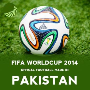 Pakistan produces over half the world's footballs, making the country world's largest producer of hand-sewed footballs. The official footballs in the last two FIFA World Cups were made in Pakistan