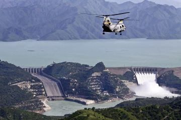 Tarbela Dam of Pakistan is the largest earth-filled dam in the world, and also the largest dam by structural volume