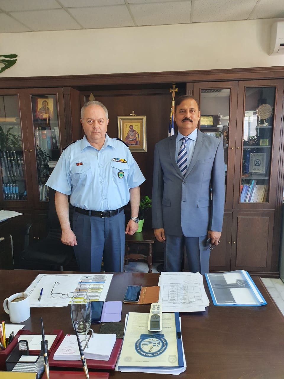 The Ambassador of Pakistan to Greece, met with General, Police Chief of Crete.